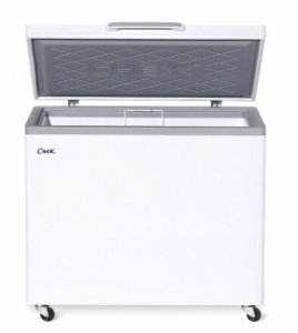 Ларь морозильный с гнутым стеклом Снеж МЛГ-350 серый