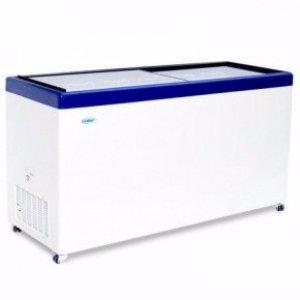 Ларь морозильный с гнутым стеклом Снеж МЛГ-350 синий