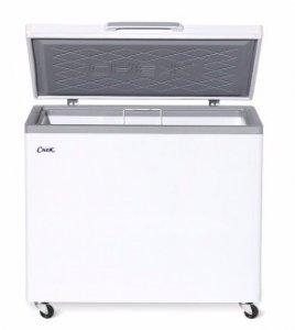 Ларь морозильный с гнутым стеклом Снеж МЛГ-400 серый