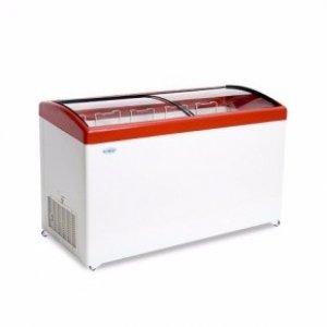 Ларь морозильный с гнутым стеклом Снеж МЛГ-500 красный