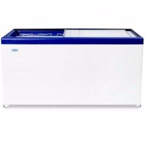 Ларь морозильный с прямым стеклом Снеж и МЛП-600 синий