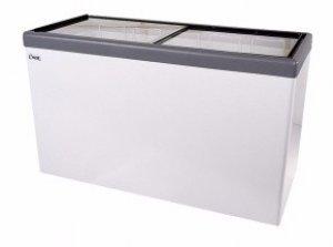 Ларь морозильный с прямым стеклом Снеж МЛП-400 серый