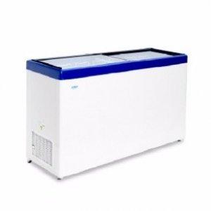 Ларь морозильный с прямым стеклом Снеж МЛП-400 синий