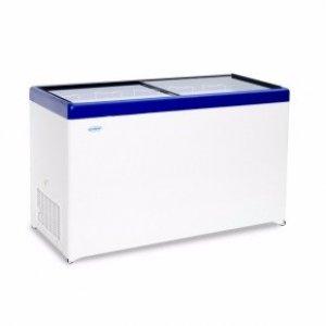 Ларь морозильный с прямым стеклом Снеж МЛП-500 синий