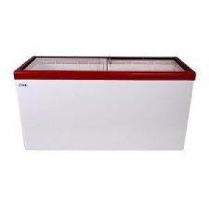 Ларь морозильный с прямым стеклом Снеж МЛП-700 красный