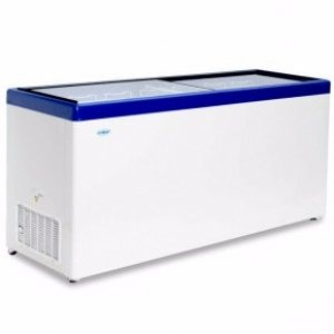 Ларь морозильный с прямым стеклом Снеж МЛП-700 синий