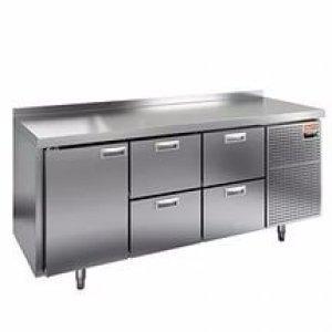 Стол морозильный HICOLD GN 122/BT(-10-18), 1 дверь, 4 ящика, 1835х600х850мм