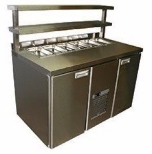 Стол охлаждаемый ROSSO Bar-480С салат нерж.