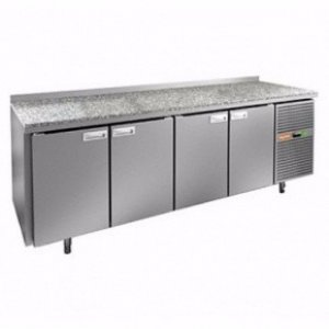 Стол холодильный HiCold SN 1111/TN, камен. столешн.