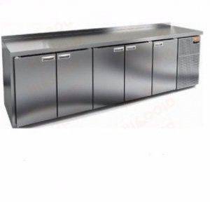 Стол охлаждаемый HiCold GN 11111 BR2 TN Стол. охл.(+2+10), 5 дверей, 2840х700х850мм, увелич. объем