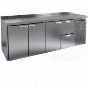 Стол охлаждаемый HiCold GN 1112 BR2 TN (+2+10), 3 двери, 2 ящика, 2395х700х850мм, увелич. объем