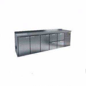 Стол охлаждаемый HiCold GN 11122 BR2 TN (+2+10), 4 двери, 2 ящика 2840х700х850мм, увелич. объем