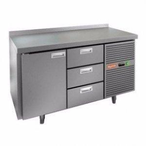 Стол охлаждаемый HiCold GN 112 BR2 TN (+2+10), 2 двери, 2 ящика, 1950х700х850мм, увелич. объем