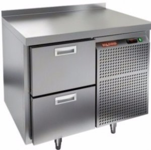 Стол охлаждаемый HiCold GN 2 BR2 TN (-2+10), 1 дверь, 900х700х850мм, увелич. объем