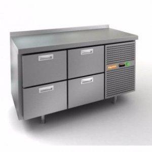 Стол охлаждаемый HiCold GN 22 BR2 TN (+2+10), 4 ящика, 1505х700х850мм , увелич. объем