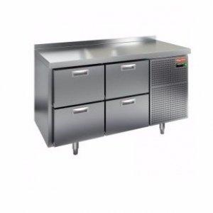Стол холодильный HCOLD GN 12/TN (2 дверь, бок. расп. агрегата, 1390х700х850 мм, -2...+10С)