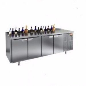 Стол охл. GN 11111 HT V (-2+10), 2 двери, 4 ящика, 2280х600х675мм, c ванной для льда под бутылки