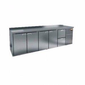 Стол охлаждаемый HiCold GN 11112 BR2 TN (+2+10), 4 двери, 2 ящика 2840х700х850мм, увелич. объем