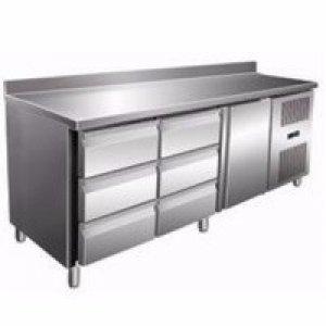 Стол с охлаждаемым шкафом COOLEQ GN3260TN бортик 6 ящика + 1 двери