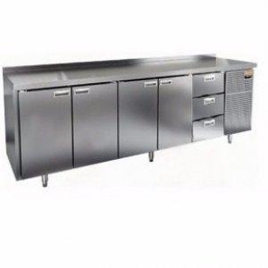Стол морозильный GN 11113 BR2 BT (-10-18), 4 двери, 3 ящика 2840х700х850мм