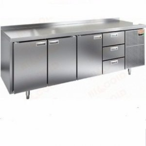Стол морозильный GN 1113 BR3 BT (-10-18), 3 двери, 3 ящика, 2395х700х950мм