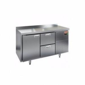 Стол морозильный HICOLD GN 12/BT (-10-18), 1 дверь, 2 ящика, 1390х700х850мм