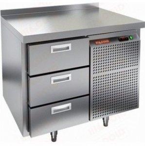 Стол морозильный SN 3 BR3 BT (-10-18), 3 ящика, 900х600х95 (-10-18), 4 двери, 3 ящика 2840х700х950мм