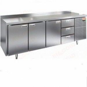 Стол морозильный GN 1112 BR2 BT (-10-18), 3 двери, 2 ящика, 2395х700х850ммм