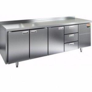 Стол морозильный HICOLD SN 1113/BT (-10-18), 3 двери, 3 ящика, 2280х600х850мм
